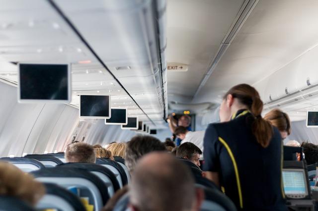 letuška a cestující
