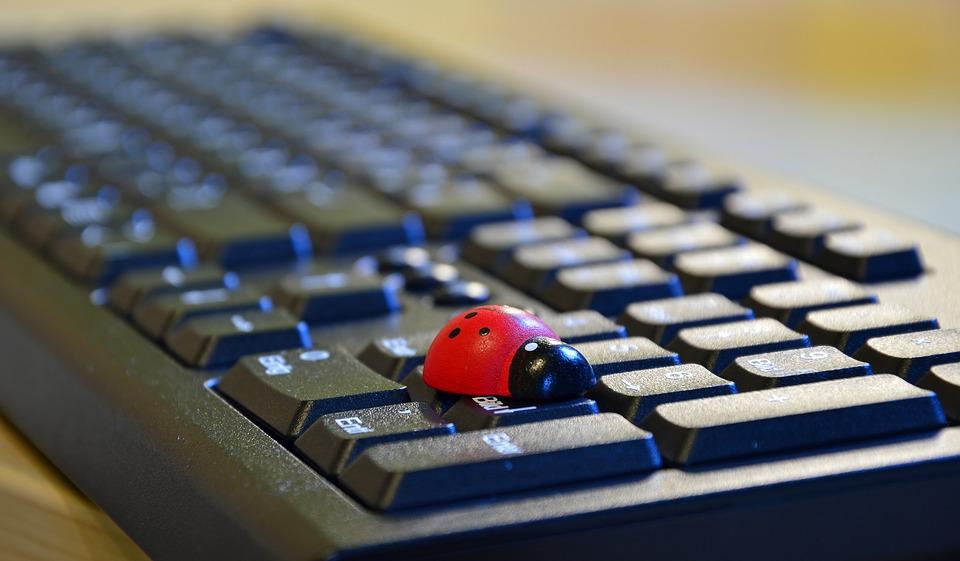 klávesnice s beruškou